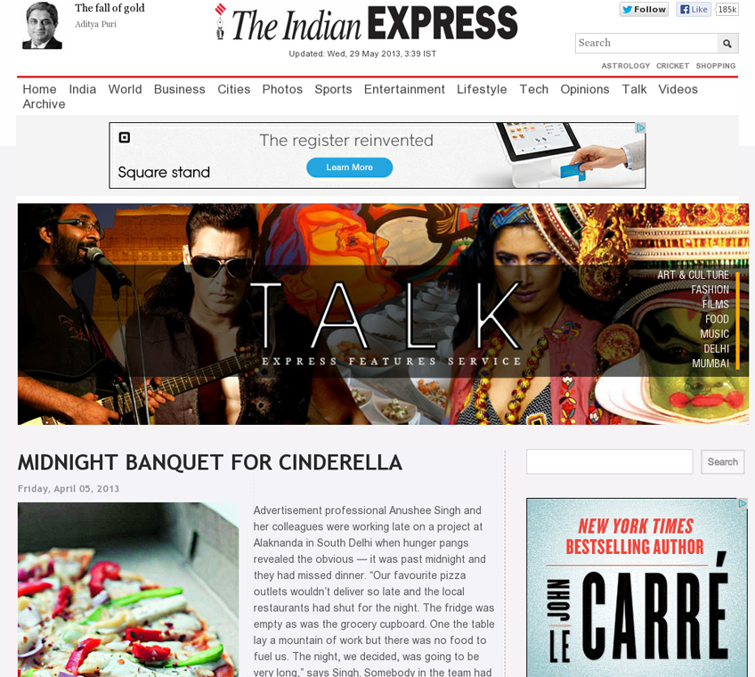 SamratCakes.com get mention on Indian Express Talk